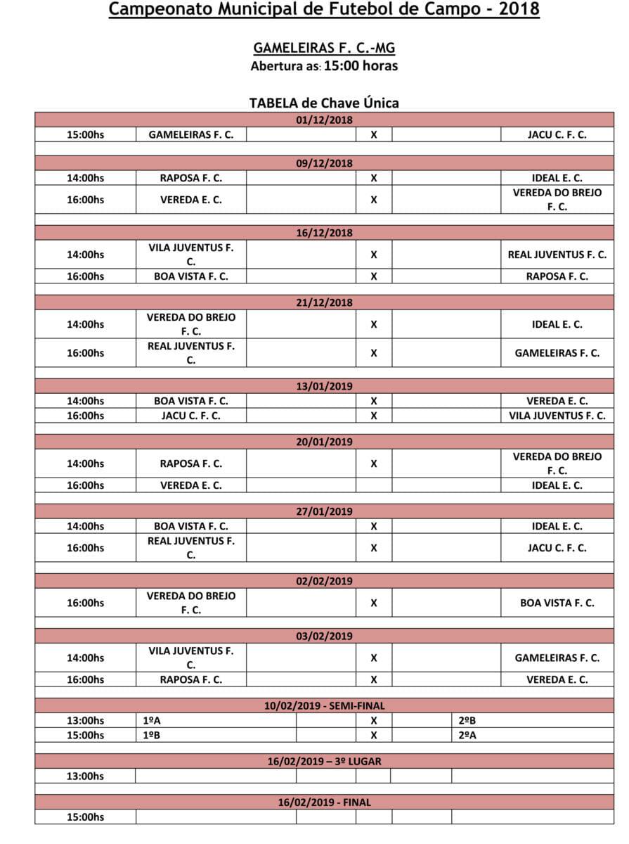 Tabela Campeonato (2)